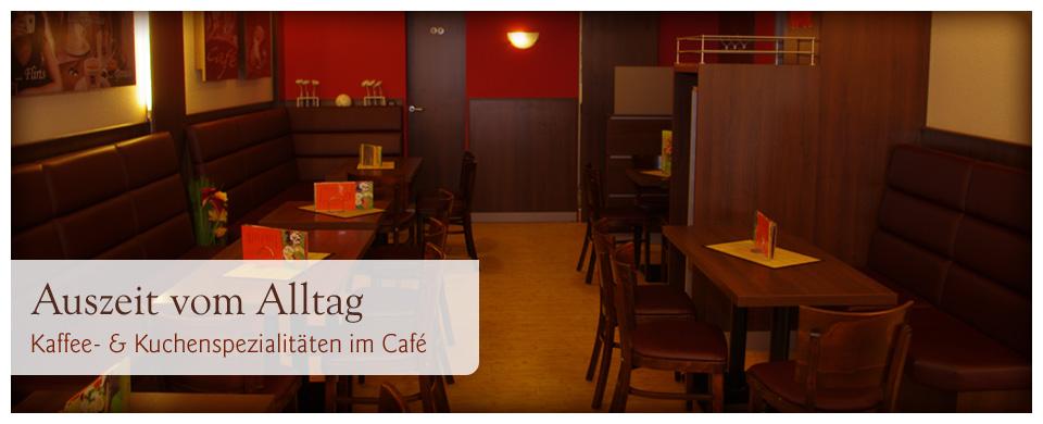 Auszeit vom Alltag. Kaffee- & Kuchenspezialitäten im Café.